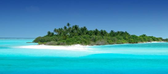 Einsame tropische Insel
