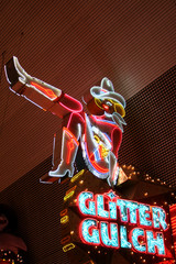 Cowgirl Neon Sign in Las Vegas, USA
