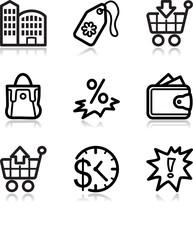 Black contour web icons, set 26