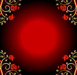 Floral design color background