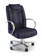 armchair for boss 3d rendering