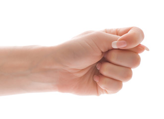 Cocking a snook gesture