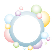 colorful bubbles banner