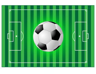 Fussballfeld mit einem Fussball