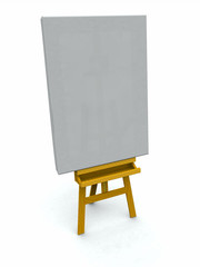 Artist's Easel and Canvas