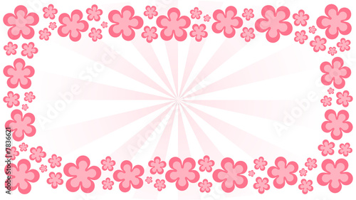 Pink flower border background stock image and royalty free vector pink flower border background mightylinksfo Images