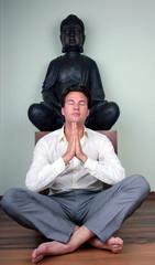 business man buddha spa