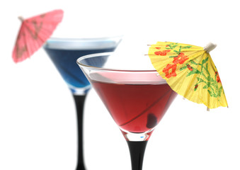 Fotoväggar - Two cocktails isolated on white