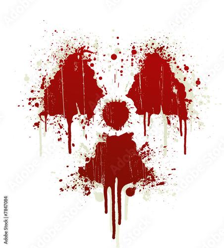 Radioactive Symbol Blood Splatter Stock Photo And Royalty Free