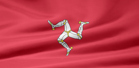 Isle of Man Flagge