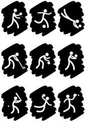 Pictogrammes des jeux olympiques d'été peinture noire(partie 3)