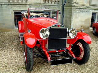 Tuinposter Oude auto s Red Retro Car