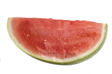 quarter Watermelon isolated