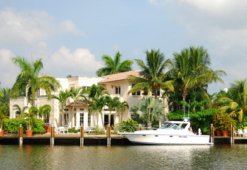 Waterfront mansion
