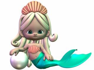 Photo sur Aluminium Mermaid Comik Meerjungfrau