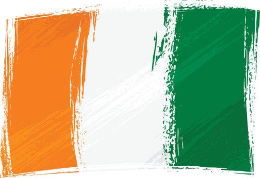 Grunge Cote dIvoire flag