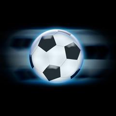 football glossy blue moving