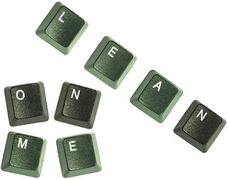 "Keyboard keys spelling out the words ""Lean on me"""