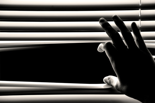 hand opening windows blinds