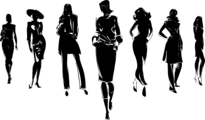 mode - silhouettes femmes