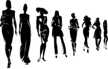 silhouettes de mannequins femme
