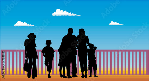 Wall mural FAMILLE