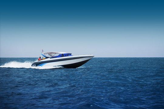 Fast motorboat