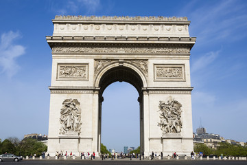 Wall Mural - arc of triumph in the beautiful city of paris france