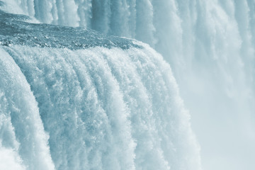 Rare close up detail of Niagara Falls