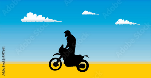 Wall mural moto cross 4