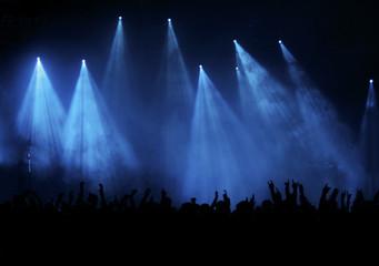 Konzertpublikum blau