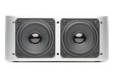 Loudspeaker on a white