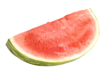 Ripe watermelon isolated