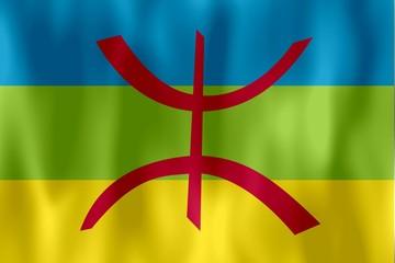 drapeau berbere kabyle flag