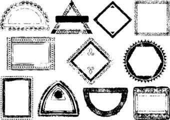 Passport stamp frames - vector images