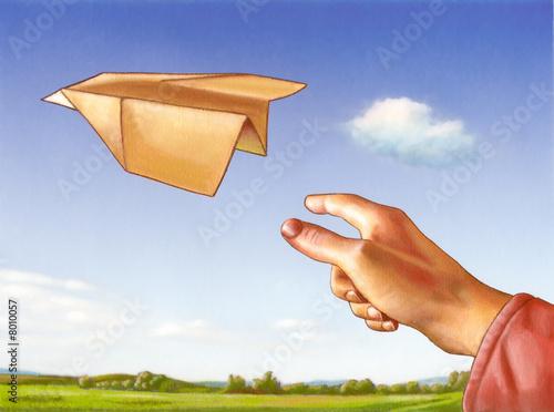 paper plane stock illustration - photo #2