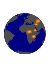 mondo, guerra asia africa