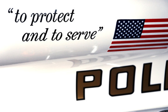 """Police Motorcycle """"Protect and Server"""""""