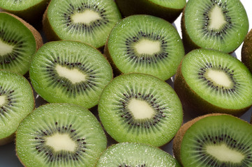 slice fresh kiwi background
