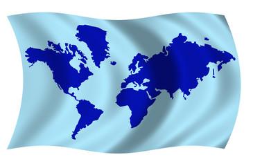 Bandera Mapamundi