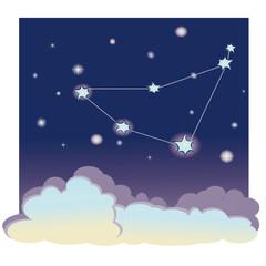 "vector illustration of constellation ""Capricorn"""