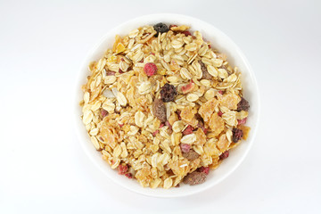 Muesli Breakfast In A Bowl or Cup