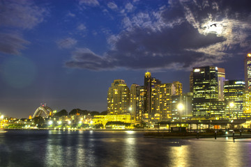 Darling Harbour, Sydney at night