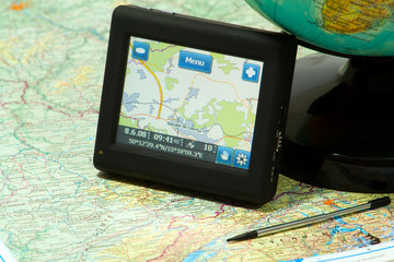 gps navigation on a map