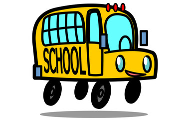 Vector cartoon School Bus