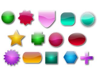 Blank Glassy Web Badges