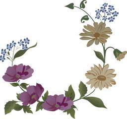 corner of light flowers