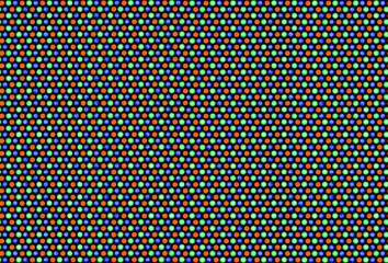 Pixels of cathode ray tube