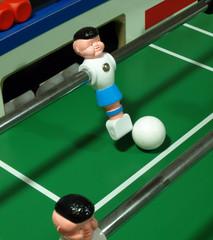 Tischkicker Torwart mit Ball