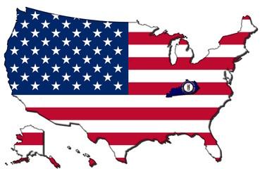 Kentucky mit den vereinigten Staaten